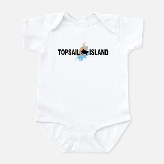 Topsail Island NC - Seashells Design Infant Bodysu