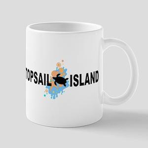Topsail Island NC - Seashells Design Mug