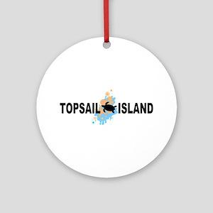 Topsail Island NC - Seashells Design Ornament (Rou