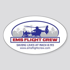 EMS Flight Crew - Rotor Wing Sticker (Oval)