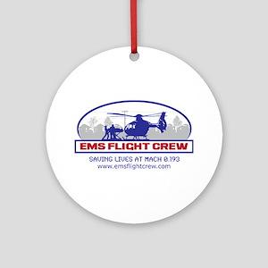 EMS Flight Crew - Rotor Wing Ornament (Round)