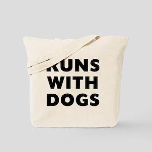 Runs Dogs Tote Bag