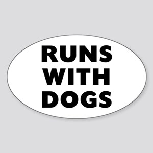 Runs Dogs Sticker (Oval)