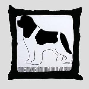 Landseer Silhouette Throw Pillow