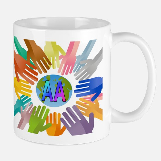 COLORED AA HANDS Mug