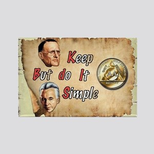 BILL, BOB KEEP IT SIMPLE Rectangle Magnet