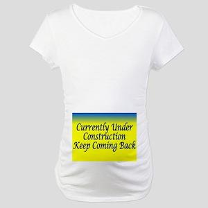 aa maternity under comstruction Maternity T-Shirt