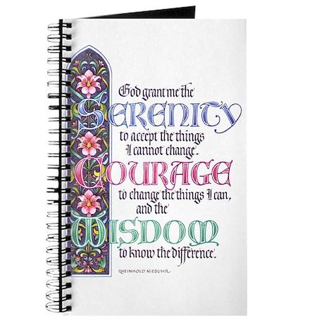 FLOWERED SERENITY PRAYER Journal