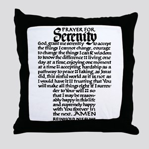 FULL SERENITY PRAYER Throw Pillow