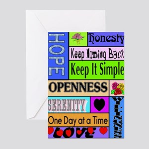 COLORED BLOCK SLOGANS Greeting Cards (Pk of 20)