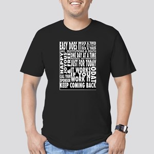 BLACK 12 STEP DESIGNS Men's Fitted T-Shirt (dark)