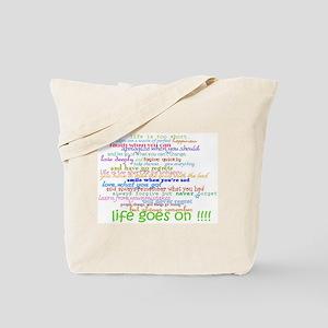 COLERED 12 STEP SAYINGS Tote Bag