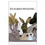 """""""It's...bunnies..."""" Large Poster"""