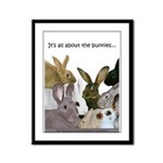 """It's...bunnies..."" Framed Panel Print"