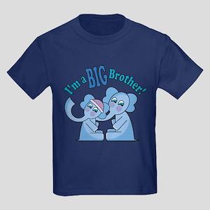 Big Brother Elephants Kids Dark T-Shirt