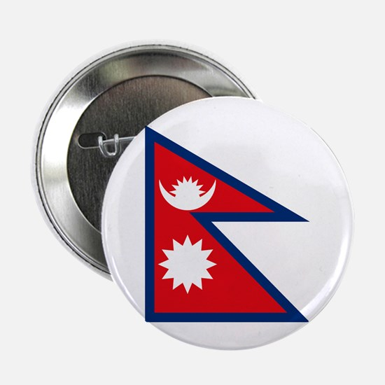"""Nepal Flag 2.25"""" Button (10 pack)"""