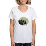 Artistic Kerry Cattle Women's V-Neck T-Shirt