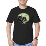 Artistic Kerry Cattle Men's Fitted T-Shirt (dark)