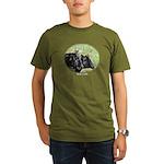 Artistic Kerry Cattle Organic Men's T-Shirt Olive