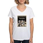 We've Lost Bo Peep! Black Women's V-Neck T-Shirt
