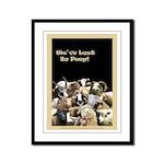 We've Lost Bo Peep! Black Framed Panel Print