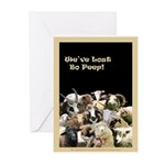 We've Lost Bo Peep! Black Greeting Cards (Package