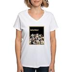 Full of Fiber! (Black) Women's V-Neck T-Shirt