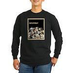 Full of Fiber! (Black) Long Sleeve Dark T-Shirt