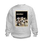 Full of Fiber! (Black) Kids Sweatshirt