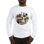 Round Sheep Collage Long Sleeve T-Shirt
