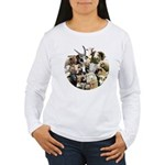 Round Sheep Collage Women's Long Sleeve T-Shirt