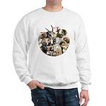 Round Sheep Collage Sweatshirt