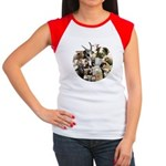 Round Sheep Collage Women's Cap Sleeve T-Shirt