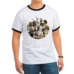 Round Sheep Collage Ringer T
