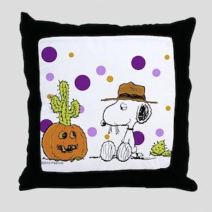 Spikey Halloween Throw Pillow