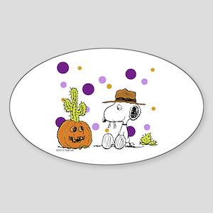 Spikey Halloween Sticker (Oval)