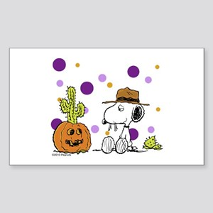 Spikey Halloween Sticker (Rectangle)