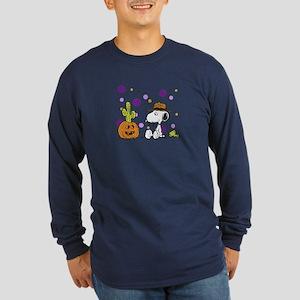 Spikey Halloween Long Sleeve Dark T-Shirt