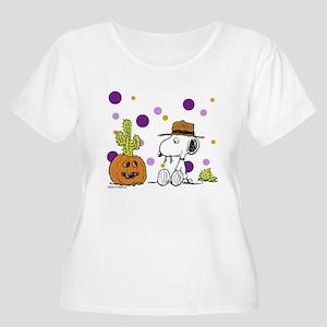 Spikey Halloween Women's Plus Size Scoop Neck T-Sh