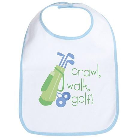 Crawl, Walk, Golf Bib