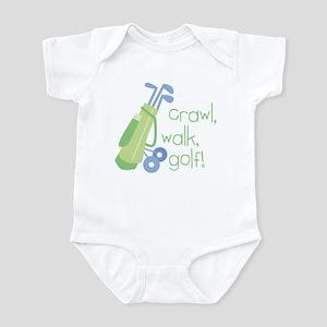 Crawl, Walk, Golf Infant Bodysuit
