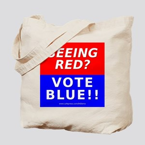 """Seeing Red"" Tote Bag"