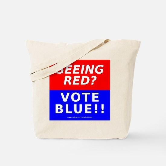 """Seeing Red"" Tote Bag"