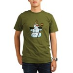 New Orleans Christmas Organic Men's T-Shirt (dark)