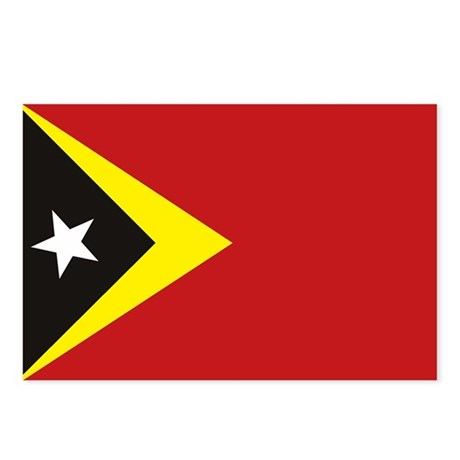 East Timor Flag Postcards (Package of 8)