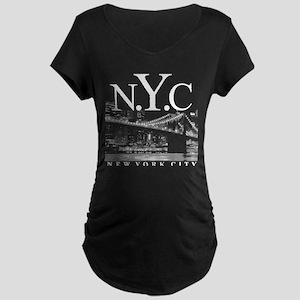 NYC New York City Skyline Maternity Dark T-Shirt