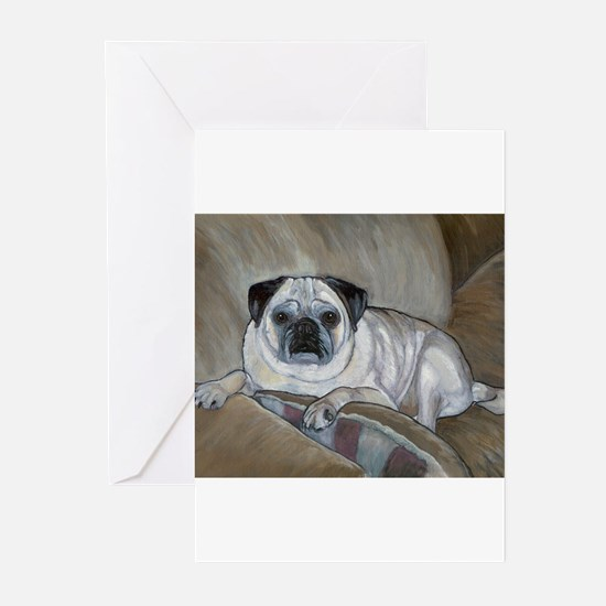 """Pug"" Greeting Cards (Pk of 10)"
