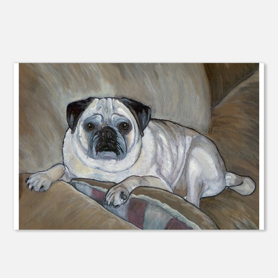 """Pug"" Postcards (Package of 8)"