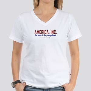 Demand Democracy Women's V-Neck T-Shirt