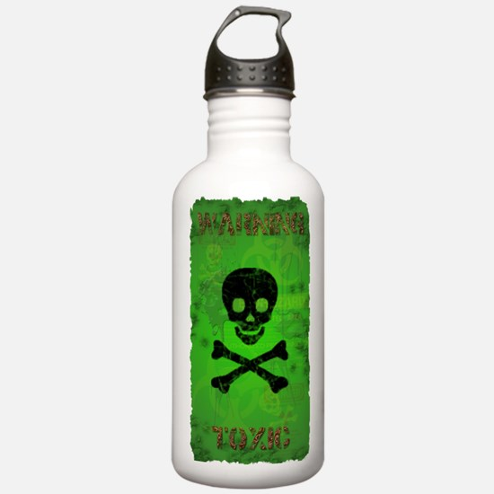 Funny Toxic Waste Sports Water Bottle
